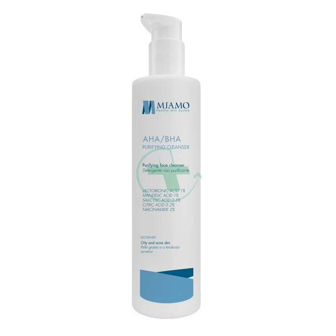 Miamo Linea Acnever AHA/BHA Purifying Cleanser Gel Purificante Viso 250 ml