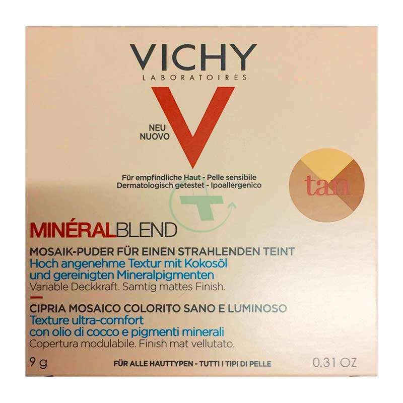 Vichy Make-up Linea Mineralblend Cipria Mosaico Idratante Uniformante 9 g Dark
