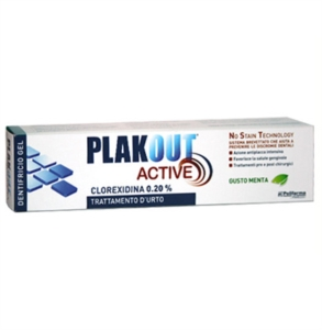 Polifarma Linea Igiene Dentale Quotidiana Plakout Active 0,20 Dentifricio 75 ml