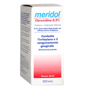 meridol Linea Igiene Dentale Quotidiana Collutorio Clorexidina 0,20% 300 ml